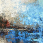 Monique Carr - Abstract Landscape OIL AND COLD WAX