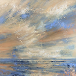 Monique Carr - Loosen Up! Abstract Seascape with Clouds
