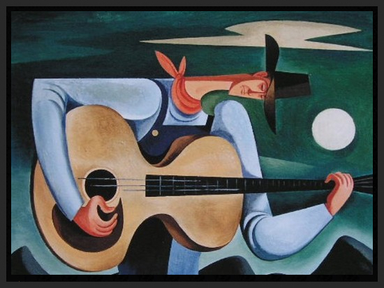 Cowboy With Guitar - 1946 - Oil