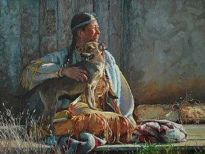 Sharing the Morning Sun by Jim Clements Oil ~ 18 x 24