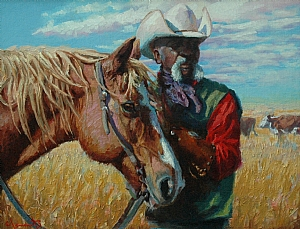 Old Partners by Jim Clements Oil ~ 11 x 14