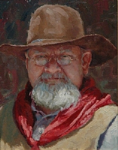 Cow Hand by Jim Clements Oil ~ 14 x 11