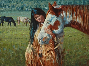 The Gentle One by Jim Clements Oil ~ 9 x 12