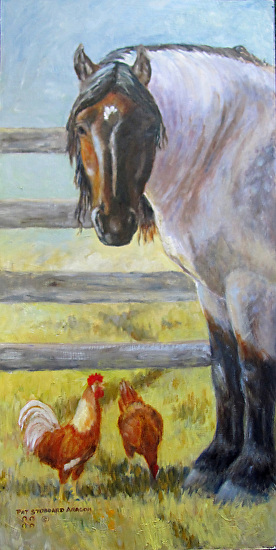 Mica and Chickens - Oil