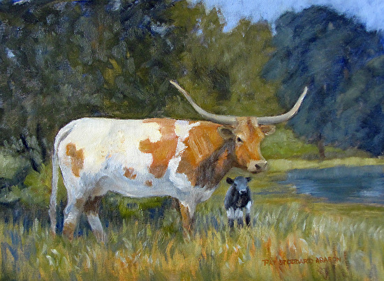 LH Cow and Calf 4 - Oil