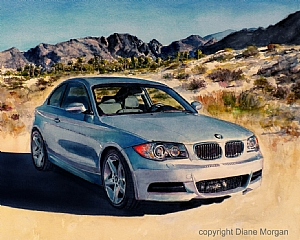 BMW by Diane Morgan Watercolor ~  x