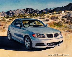 BMW by Diane Morgan Watercolor ~  x