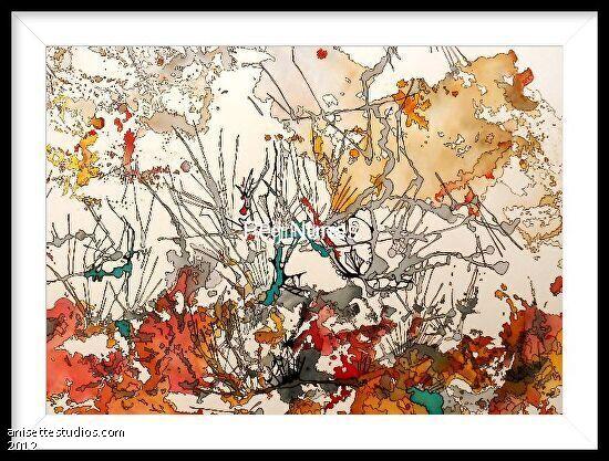 Facination - watercolor, pastel, mircron pen
