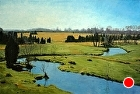 Stream Pasture, Pennsylvania by Sandra Corpora Oil ~ 24 x 36