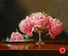 Peonies in profusion by Sandra Corpora Oil ~ 20 x 24