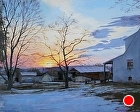 Bucks county sunset by Sandra Corpora Oil ~ 16 x 20