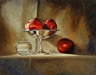 Four apples by Sandra Corpora Oil ~ 14 x 18