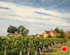 September vineyard, Chateau Pitray by Sandra Corpora Oil ~ 11 x 14