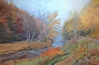 Fall morning Graystones Preserve by Sandra Corpora Oil ~ 40 x 60