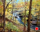 Wooded creek view by Sandra Corpora Oil ~ 16 x 20