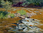 Bushkill Creek by Sandra Corpora Oil ~ 11 x 14
