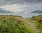 Soft Day Lough Swilly, Donegal by Sandra Corpora Oil ~ 8 x 10