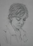 Stephanie by Marie Merritt Pencil ~ 10 x 8