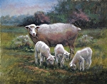 Ewes All I Need by Marie Merritt Oil ~ 16 x 20