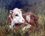 3 Days Old by Marie Merritt Oil ~ 11 x 14
