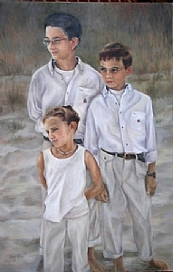 Shearer Children by Marie Merritt Oil ~ 36 x 24