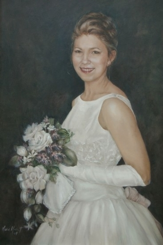 LeAnne's Bridal Portrait by Marie Merritt Oil ~ 36 x 24