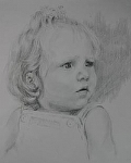 Shelby by Marie Merritt Pencil ~ 10 x 8
