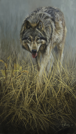 On the Move by Joe Kronenberg Oil ~ 24 x 14