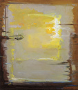 "Here Comes the Sun, Josef Albers by Elizabeth Torak Oil ~ 16"" x 14"""