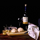 "Bread and Wine by Elizabeth Torak Oil ~ 24"" x 24"""