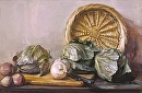 "Cabbages by Elizabeth Torak Oil ~ 16"" x 24"""