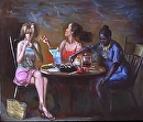 The Fates by Elizabeth Torak Oil ~ 42 x 48