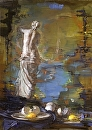 "Birth;Venus by Elizabeth Torak Oil ~ 28"" x 20"""