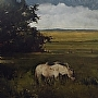 "Deep Pasture ($11,400) by Joseph Alleman Oil ~ 35"" x 35"""