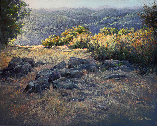 Morning on the Ridge - Pastel