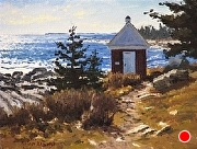 Oil House - Pemaquid Point study by Brian Kliewer Oil ~ 6 x 8