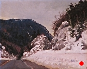"Crawford Notch, White Mountains by Brian Kliewer Oil ~ 4"" x 5"""