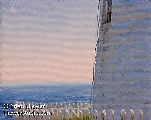 "Out To Sea, Pemaquid Point by Brian Kliewer Oil ~ 4"" x 5"""