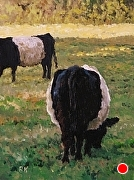 "Grazing in the Shadows by Brian Kliewer Oil ~ 8"" x 6"""