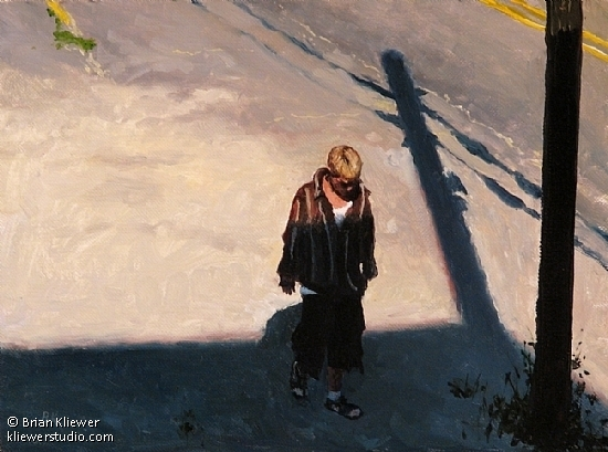 "Study for Shadows by Brian Kliewer Oil ~ 6"" x 8"""