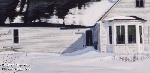Nobleboro Winter by Brian Kliewer Oil ~ 12 x 24