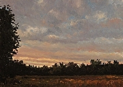 "Sunset Over the Marsh by Brian Kliewer Oil ~ 5"" x 7"""