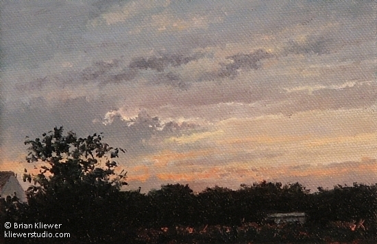 "Twilight by Brian Kliewer Oil ~ 4"" x 6"""