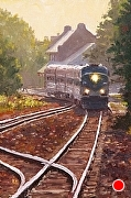 "Leaving the Station by Brian Kliewer Oil ~ 6"" x 4"""