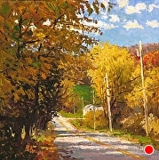 "Autumn Gold by Brian Kliewer Oil ~ 5"" x 5"""