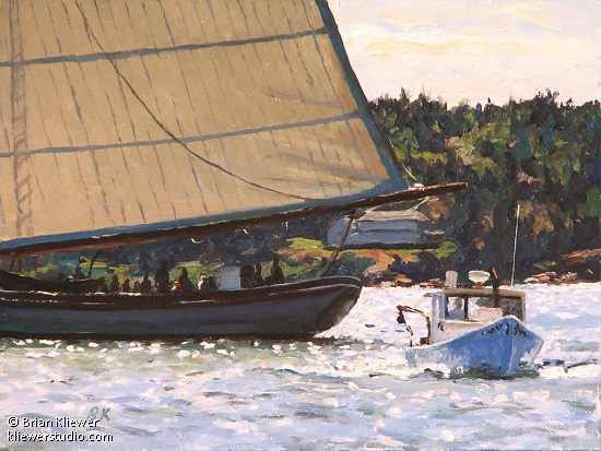 "Harbor Traffic by Brian Kliewer Oil ~ 6"" x 8"""