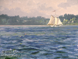 "The Isaac H. Evans by Brian Kliewer Oil ~ 6"" x 8"""