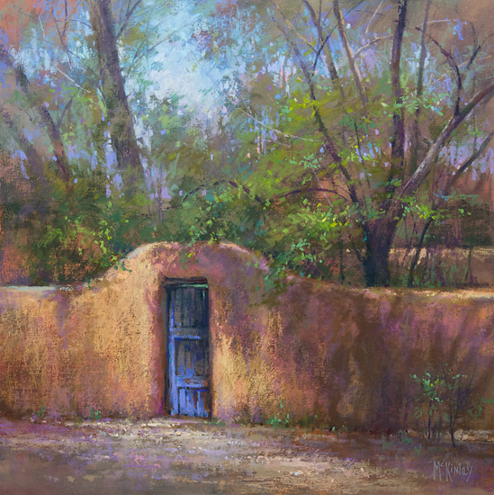 Colors of Santa Fe by Richard McKinley Pastel ~ 20 x 20