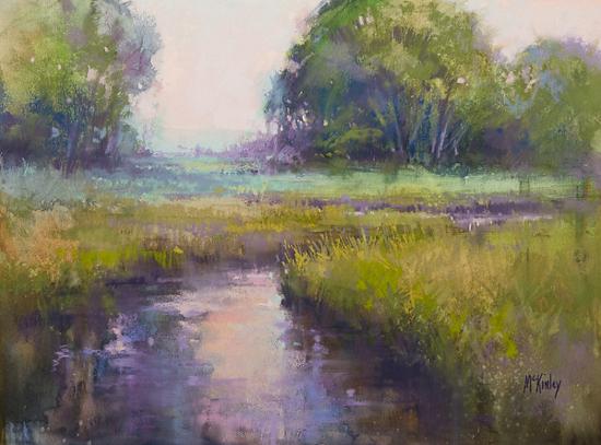 Marshland Aglow by Richard McKinley Pastel ~ 12 x 16