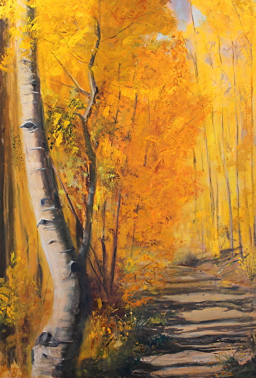 Walking in a Yellow Wood - Oil